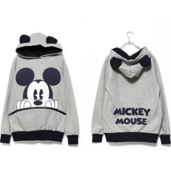 Disney Sweaters - Mickey Mouse Hoodie w/ Ears 